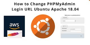 how to change phpmyadmin login url