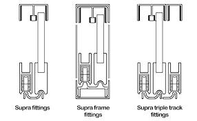 triple sliding door track wardrobe tracks