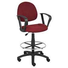 office drafting chair. Drafting Stool With Footring And Loop Arms Burgundy - Boss Office Products Chair