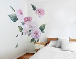 peonies and roses on decal wall art nz with peonies and roses your decal shop nz designer wall art decals