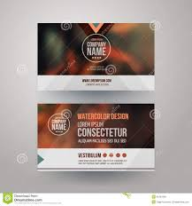 Design Focus Cards Business Cards With Blurred Abstract Background Stock Vector