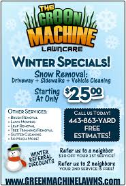 lawncare ad green machine lawns harford county md lawn care services leaf
