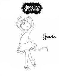 Small Picture Angelina Ballerina Character Gracie Colouring Page Happy Colouring
