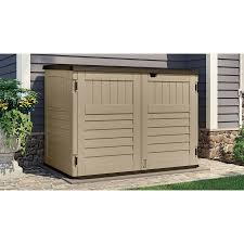 trash can furniture. suncast toter trash can shed sand furniture