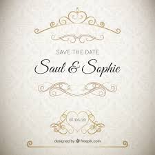 wedding vectors, photos and psd files free download Wedding Invitations With Graphics elegant wedding invitation with golden ornaments Wedding Background Graphics