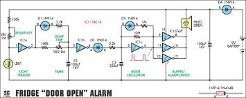 electrical projects circuit diagram the wiring diagram fridge door open alarm circuit project circuit diagram circuit diagram