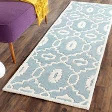 ham blue ivory 2 ft x 5 ft runner rug