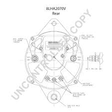 8lha2070v alternator product details prestolite leece neville 8lha2070v rear dim drawing