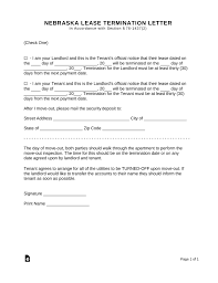 30 day notice to landlord form nebraska lease termination letter form 30 day notice eforms
