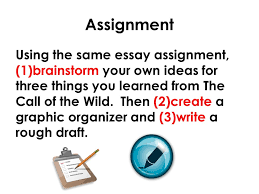 english mr rinka lesson writing an essay steps  assignment using the same essay assignment 1 brainstorm your own ideas for three