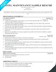 Building Engineer Resume Cool Maintenance Engineering Resume Sample Hotel Engineer Resume