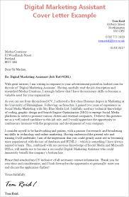 Online Job Cover Letter Cover Letter Template Digital Marketing Cover