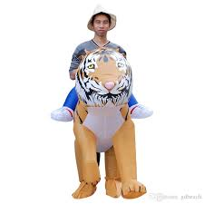 Adult Size Inflatable Costume Tiger Ride On Toy Carry On Animal Halloween  Party Blow Up Inflatable Suit Fancy Dress Brown Cheerleader Halloween  Costume ...
