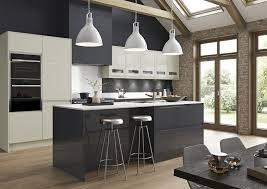 kitchen. Strada Gloss In Graphite \u0026 Porcelain Kitchen A