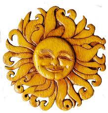 sun face wall decor celestial plaque