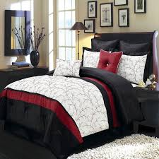 red accent w ivory and black bedding 12 pc bed in a bag with sheet set