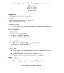 Resume Without Work Experience Delighted Working Experience Resume Format Images Entry Level 17