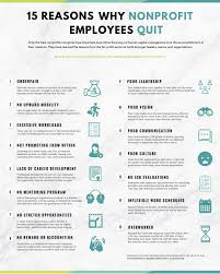 infographic why nonprofit employees quit