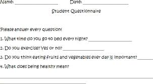 a healthy body is a healthy mind questionnaire