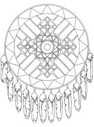 336921487bea33cc6cc638326a4e3447 native american dreamcatcher mandala coloring page ✐zentangles on native american coloring books for adults