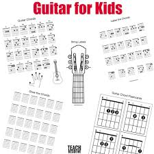 Printable Guitar Chords Chart Pdf Guitar Chords For Kids