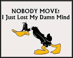 funny duck quote with cartoons