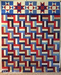 Quilting Designs For A Rail Fence Quilt Patriotic Rail Fence Maryquilts Com Rail Fence Quilt