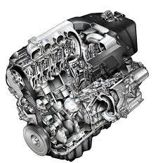 stock automotive illustration cutaway v6 engine illustration