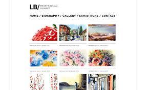 art portfolio template website vorlage 49560 für künstler portfolio