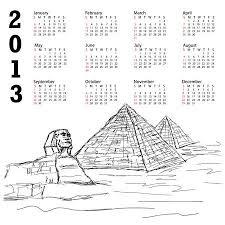 ヴィンテージ手で 2013 年カレンダー自由米国ニューヨーク市の有名な観光