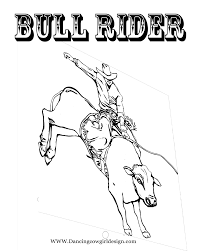 Small Picture RODEO COLORING PAGES Bull Rider Coloring Sheet 2