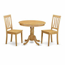 3 Pc Kitchen Table Set Round Kitchen Table And 2 Dining Chairs