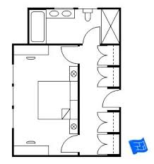 bedroom floor plan. Simple Plan Master Bedroom Floor Plan Where The Entrance Is Into A Vestibule Which  Doubles As Closet Then Thereu0027s Two Doors Leading To Either Side Of  Throughout Bedroom Floor Plan