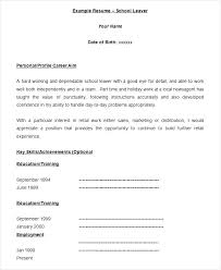 Resume Form Inspiration Empty Resume Form Blank Format Of One Page Template Cv Word