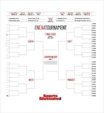 Sample Tournament Bracket 5 Documents In Pdf