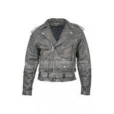 mens vulcan distressed leather motorcycle jacket