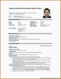 22 Cv Format Samples Pdf Download Resume Format For Job Application
