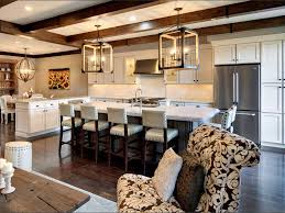 Kitchen Chandelier Tropical Kitchen With Kitchen Island Flat Panel Cabinets