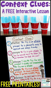 Context Clues Anchor Chart Context Clues A Free Interactive Lesson Upper Elementary