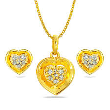 heta anokhi gold pendant set