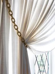 Designer Curtain Tie Backs How To Make Gold Chain Curtain Tiebacks Hgtv