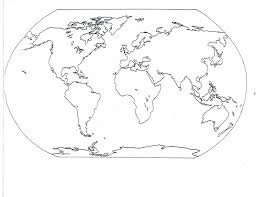 Blank And Blank Map Of Continents And Oceans Laserexcellence