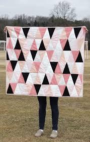 Best 25+ Triangle quilt tutorials ideas on Pinterest   DIY ... & modern ombre + b/w triangle quilt tutorial + pattern Adamdwight.com
