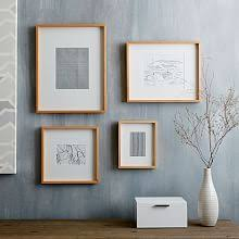 modern wood picture frames. Thin Wood Gallery Frames - Wheat Modern Picture F