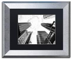 pixels print times square art 11x14 silver frame black mat