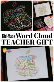 a framed personalized word cloud makes a great teacher s gift make it with your