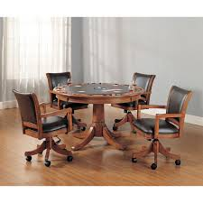 Game Table And Chairs Set Park View Medium Brown Oak Game Table And Four Game Chairs