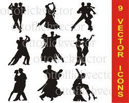 Vectors Silhouettes Ballroom Dancing Vectors Silhouettes Clipart Latin Dance Etsy