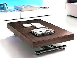 lift top up and down modern storage coffee table
