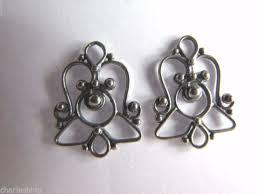 2 x bali 925 sterling silver chandelier earring findings connectors 23mm